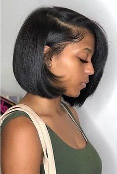 Short side bob hairstyle
