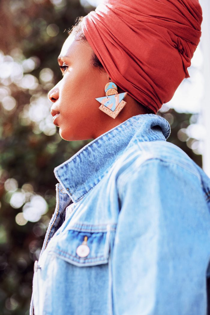 Terry Triangle Earring