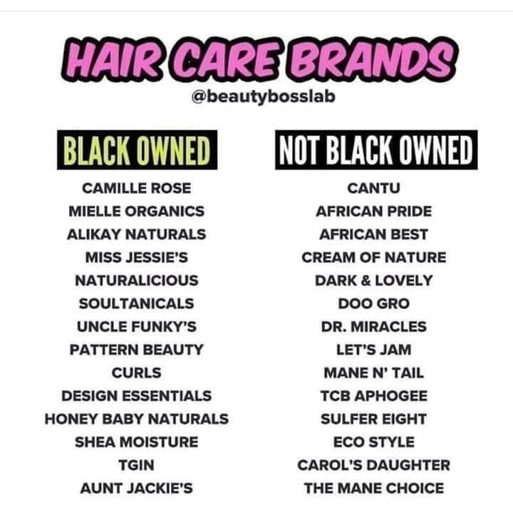 Hair care brands