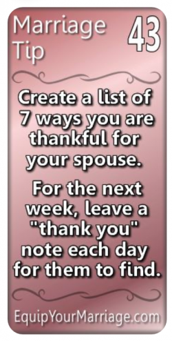 Marriage Tip #43