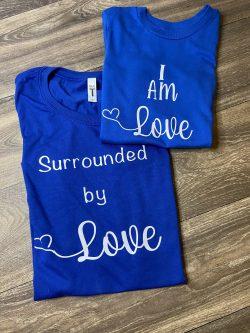 Mommy & me valentine shirts!