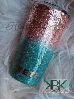 Rose Gold and Turquoise Ombré Yeti