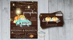 A Little Pumpkin Is On The Way | Baby Shower Invite