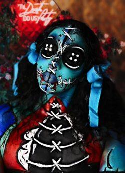 makeup, art 🎨 voodoo doll