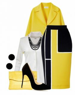 Yellow office look