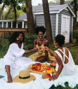 Beautiful Natural Women Picnic