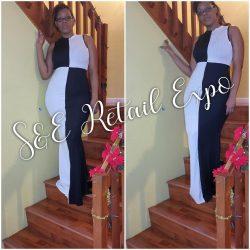 Black & White Contrast Maxi Dress