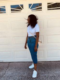 Plain white tee outfit