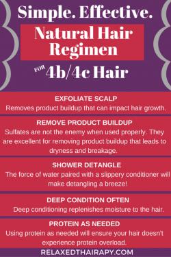 Hair care tips 4b/4c