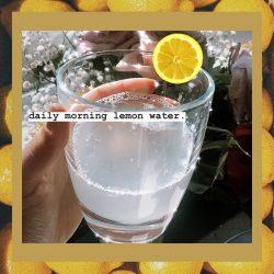 lemon water 🍋