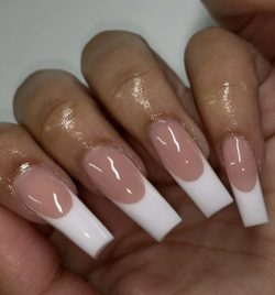 Natural Rounded French Tip Set