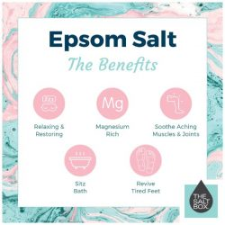 Benefits of epsom salts to use on your body/feet