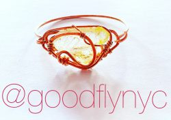Copper Wire Wrapped Topaz by Good-Fly NYC