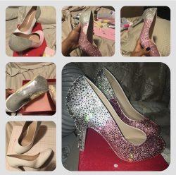 Ombré bling heels