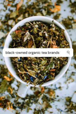 Black owned Tea company