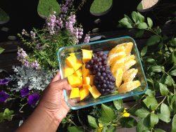 Mango, Champaign Grapes, Oranges