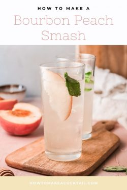 Cocktail recipe – Bourbon Peach Smash