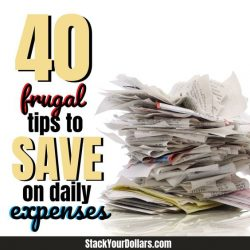 40 Frugal Ways To Save Money