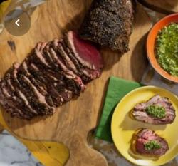 Sunny's Easy Beef Tenderloin with Holiday Pesto