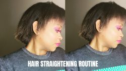 3C4A HAIR STRAIGHTENING ROUTINE