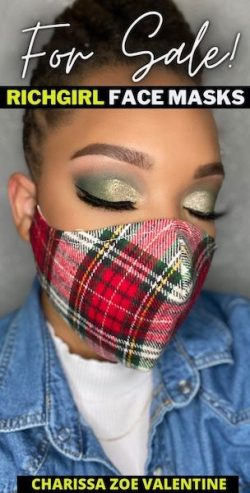 Green EyeShadow Makeup Look | Cloth Mask