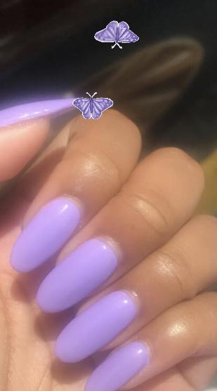 purple acrylics 💜
