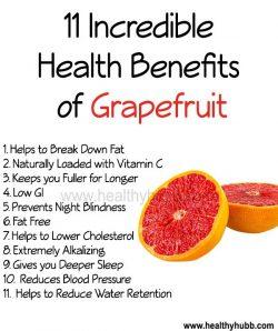 Benefit of eating grapefruit