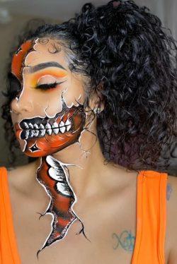 orange eyeshadow 🎨 halloween makeup