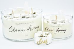 """Clear Away"" Crystal & Reiki Infused Soy Intention Candle"
