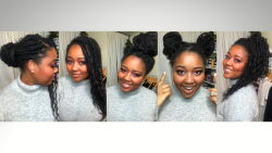 5 WAYS TO STYLE FAUX LOCS AND BOX BRAIDS | Natural Hair #Shorts