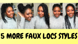 5 MORE WAYS I Style My Faux Locs | Faux Locs #Shorts