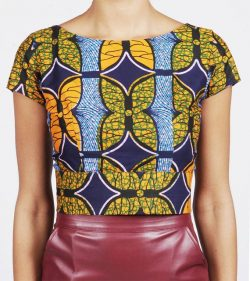 Cute African print top
