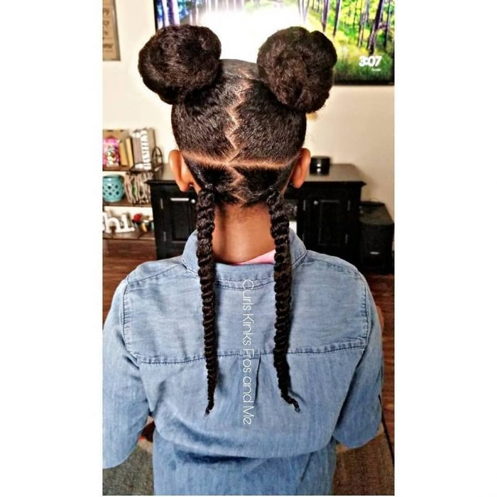 Natural hair kid styles by Curls Kinks Fros and me. CKFM Naturals products used www.curlskinksfr ...