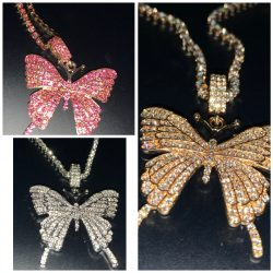 Butterfly tennis necklaces!