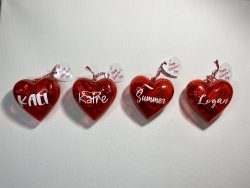 Valentine's Day Personalized Kid Heart Ornament with Candy