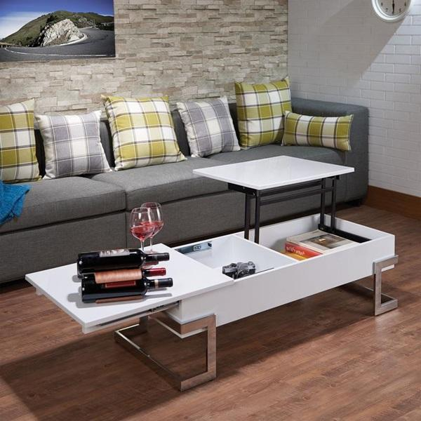 White And Chrome Coffee Table