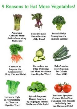 How vegetables benefit the body