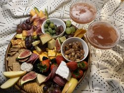 New year's platter plate