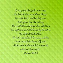 Psalms 98:1-3