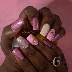 Saviland acrylic nail | Short nails