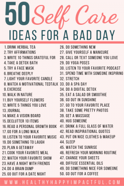 Self care ideas I'm going to start trying
