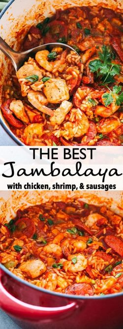 Jambalaya 1 tablespoon olive oil ▢ 1 yellow onion diced ▢ 2 celery ribs diced ▢ 2 bell peppers d ...