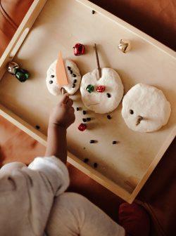 Salt Dough Snowman