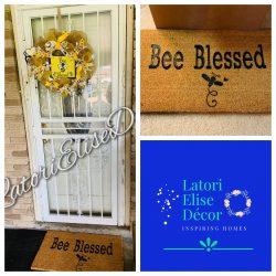 Custom Doormat & Wreath
