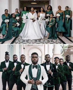 Green bridal party