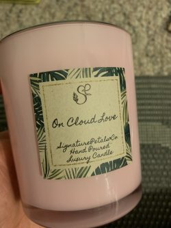 """On cloud Love "" VDAY CANDLE"