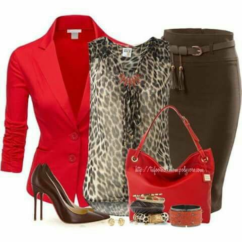 Brown, red and cheetah