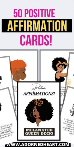 Self Love Affirmation Cards | Black Woman Art