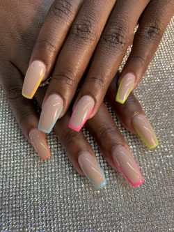 Skittles Nails soo yummy🤤. My melanin makes this POP not the other way around 🤩😍 #summernails #v ...