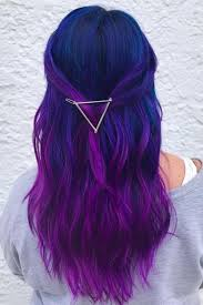 Dark purple hair color, dyed hair